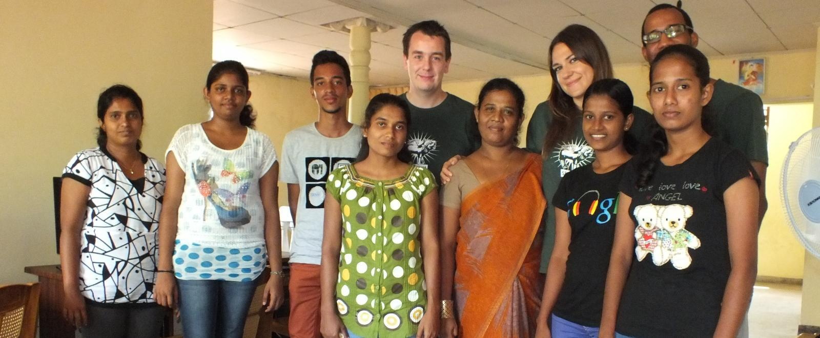 Projects Abroad interns at their business placement in Sri Lanka.